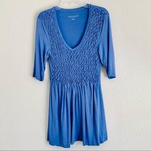 Soft Surroundings Periwinkle Blue Tunic Braided M